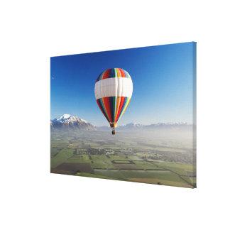 Globo de aire caliente, cerca de Methven, Cantorbe Impresión De Lienzo