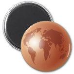 Globo de bronce del mundo imanes