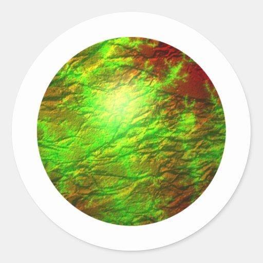 Globo de Camo del fractal Pegatinas Redondas