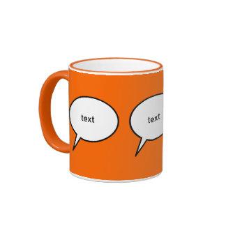 globo de discurso adaptable del dibujo animado taza de dos colores