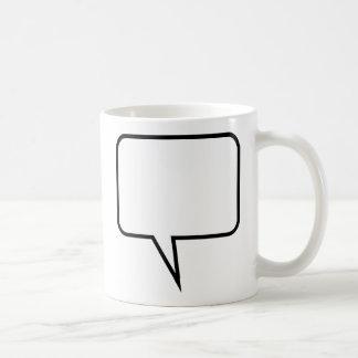 Globo de discurso taza de café
