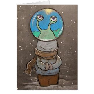 globo de la anti-nieve de los sluggo tarjeta pequeña
