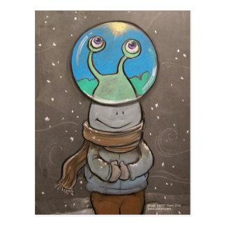 globo de la anti-nieve de los sluggo tarjeta postal