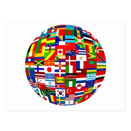 Globo de la bandera postal