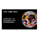 Globo de la bandera, su nombre aquí, tarjetas de visita