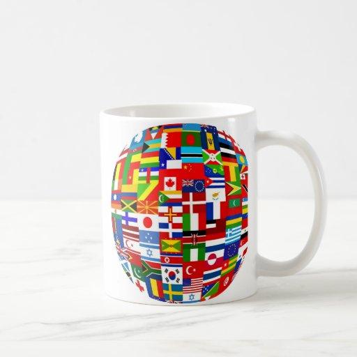 Globo de la bandera tazas