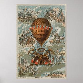 Globo de la coronación de Napoleon Póster