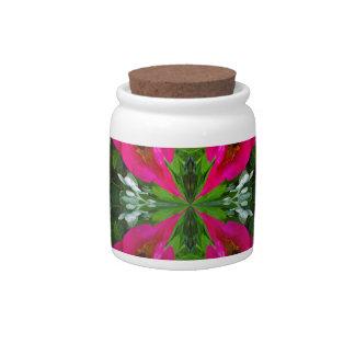 Globo de la flor jarra para caramelo