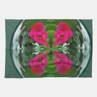 Globo de la flor toallas