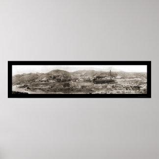Globo de la mina de cobre, foto 1909 de AZ Posters