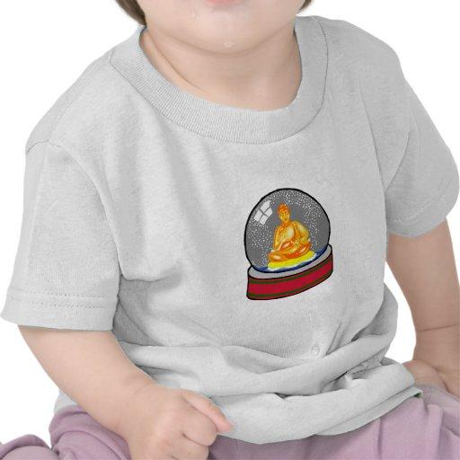 Globo de la nieve de Buda Camiseta