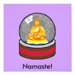 Globo de la nieve de Buda Invitación Personalizada