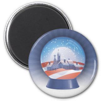 globo de la nieve de obama imanes de nevera