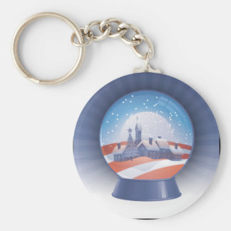 globo de la nieve de obama llavero redondo tipo pin