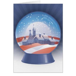 globo de la nieve de obama tarjeta de felicitación