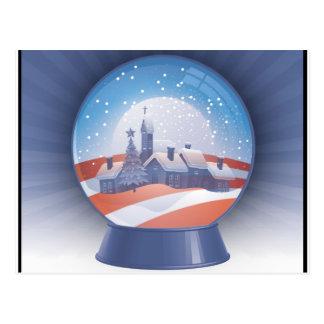 globo de la nieve de obama tarjetas postales