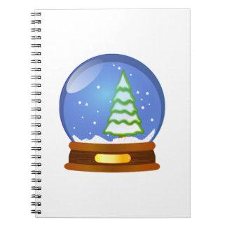 Globo de la nieve del navidad libreta