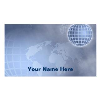 Globo de la rejilla, su nombre aquí tarjetas de visita