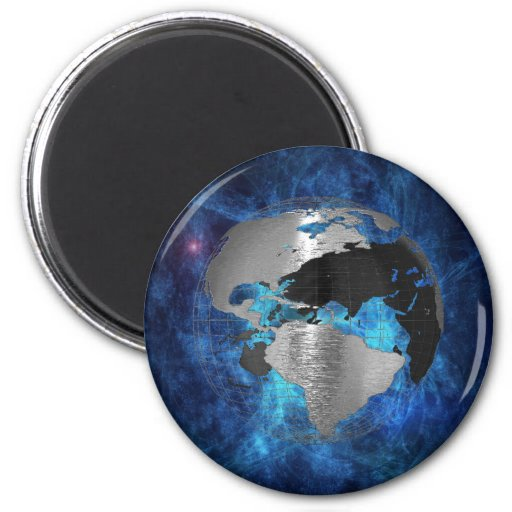 Globo de la tierra del metal imán para frigorifico