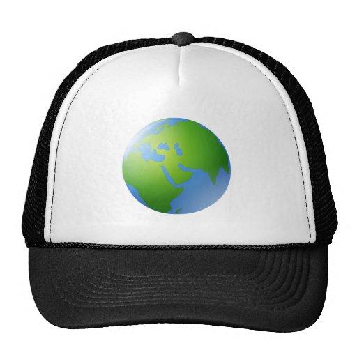 Globo de la tierra del planeta gorras de camionero