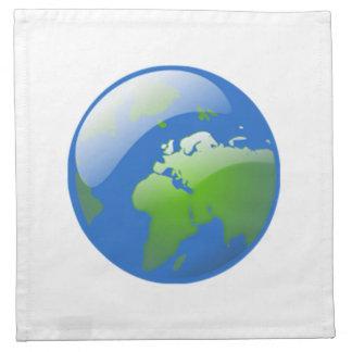Globo de la tierra del planeta servilletas