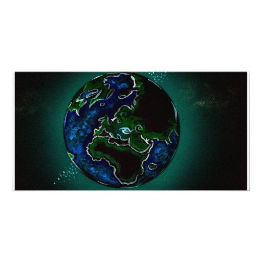 globo de la tierra tarjetas fotograficas