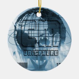 Globo de New York City Unisphere Ornamentos Para Reyes Magos