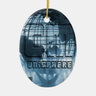 Globo de New York City Unisphere Ornamento De Reyes Magos