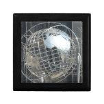 globo de plata caja de regalo