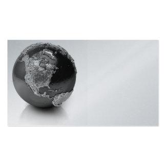 Globo de plata - Norteamérica, 3d rinde Tarjetas De Visita