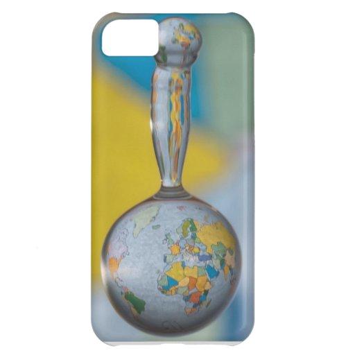 globo del agua del caso del iPhone 5 Funda Para iPhone 5C
