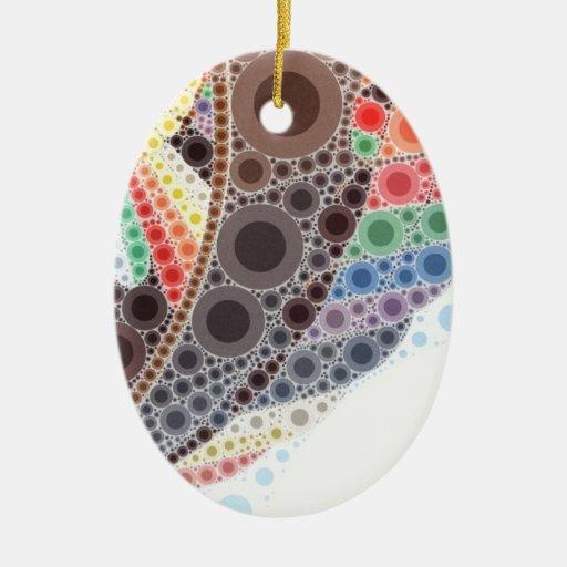 Globo del aire caliente adorno navideño ovalado de cerámica