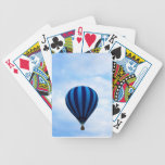 Globo del aire caliente baraja de cartas