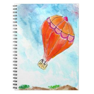 Globo del aire caliente spiral notebooks