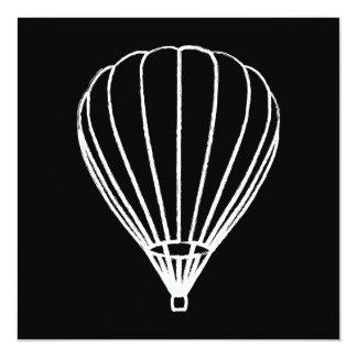 globo del aire caliente de la tinta invitación 13,3 cm x 13,3cm