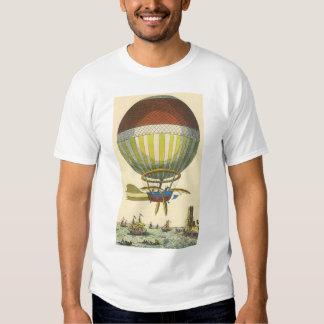 Globo del aire caliente de Steampunk de la ciencia Camisas
