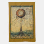 Globo del aire caliente de Steampunk de la torre E Toalla De Mano