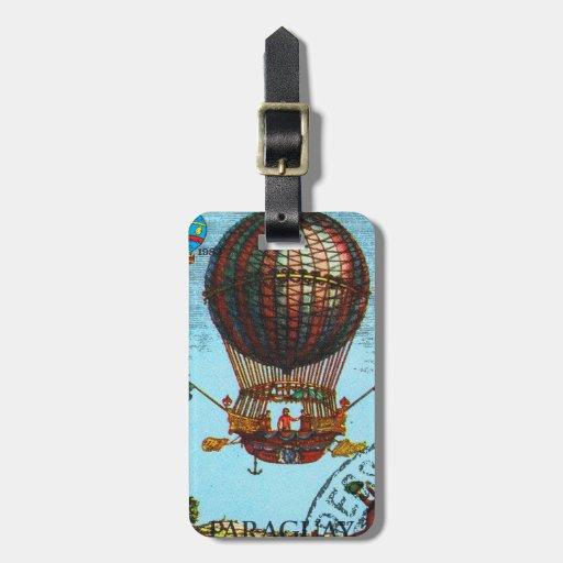 Globo del aire caliente de Steampunk del vintage Etiquetas Bolsa