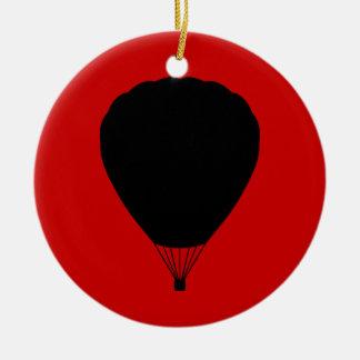 globo del aire caliente adorno redondo de cerámica