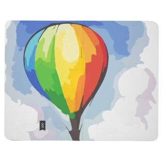 Globo del aire caliente del arco iris cuadernos