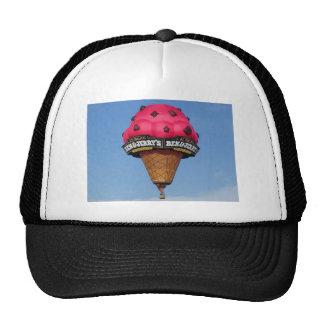 Globo del aire caliente del cono de helado gorras