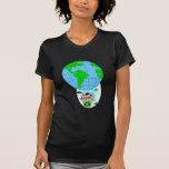 Globo del aire caliente del Día de la Tierra Camiseta