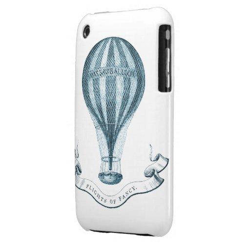 Globo del aire caliente del vintage iPhone 3 Case-Mate cobertura