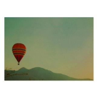 globo del aire caliente plantillas de tarjeta de negocio