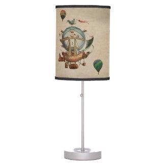 Globo del aire caliente, viaje de Minerve 1803 del Lámpara De Mesilla De Noche