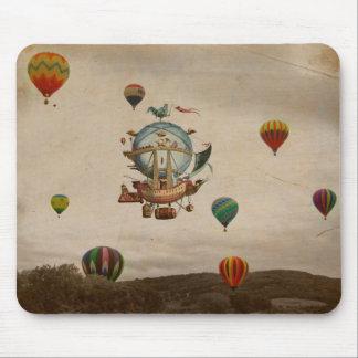 Globo del aire caliente, viaje de Minerve 1803 del Tapete De Raton
