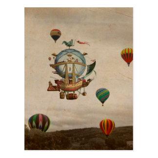 Globo del aire caliente, viaje de Minerve 1803 del Postales