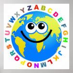 Globo del alfabeto posters