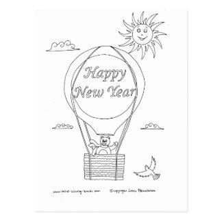Globo del Año Nuevo Tarjeta Postal