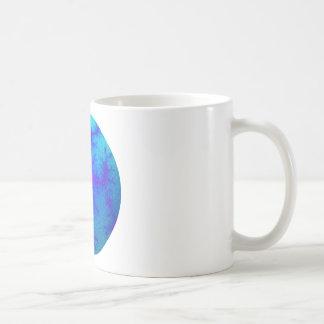 Globo del azul del fractal taza de café